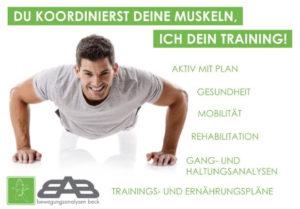 Bewegungsanalyse, Breitensport, Gesundheit,Ganganalyse, Trainngsplan