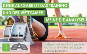 Bewegungsanalyse, Leistungssport, Trainingspläne, Technikanalyse, Laufauanalyse, Leistungsdiagnostik